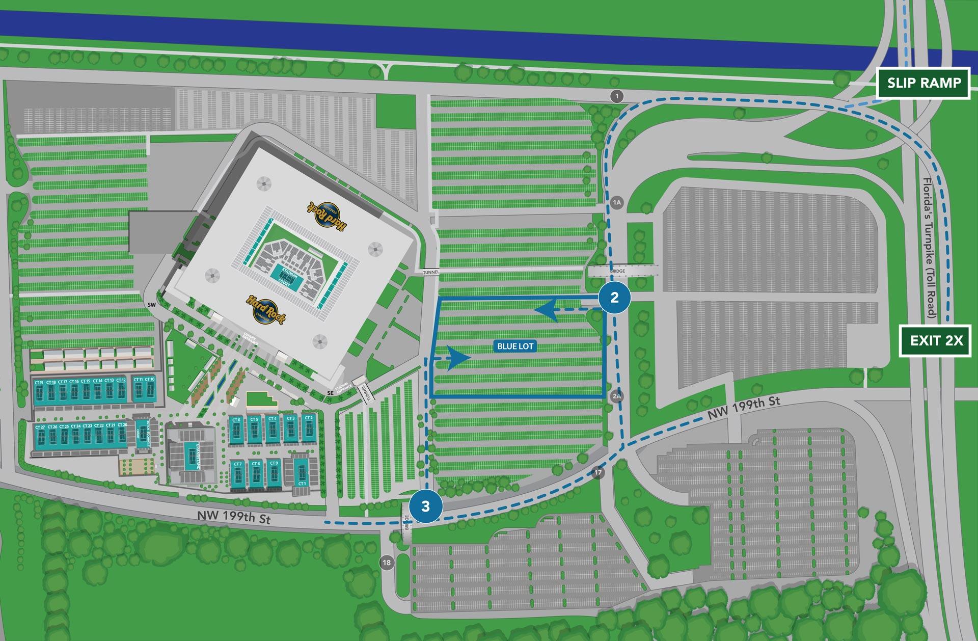 hard rock stadium map parking / hard rock stadium / i see