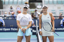 Bianca Andreescu and Ashleigh Barty