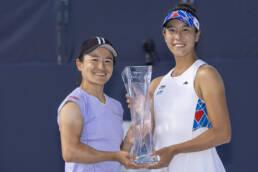Aoyama and Shibahara, 2021 Miami Open Women's Doubles Champions
