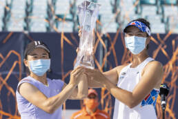 Shuko Aoyama and Ena Shibahara, 2021 Miami Open Women's Doubles Champions