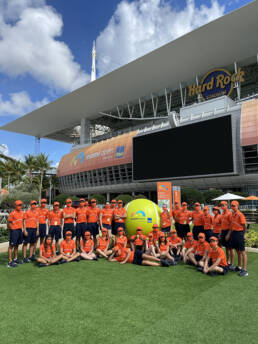 Ballpersons at the 2021 Miami Open