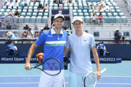Hubert Hurkacz and Jannik Sinner, Men's Singles Finals, April 4, 2021 - Miami Open